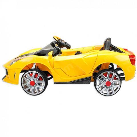 Imagem de Carro Eletrico Mini Ferrari Amarela 12v com Controle Remoto  Bel