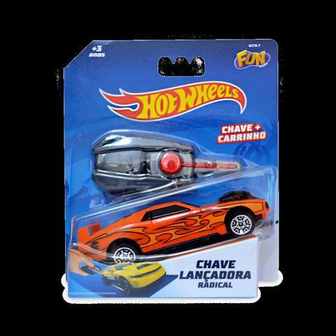 Imagem de Carro Hot Wheels Com Chave Lançador Laranja - Fun Divirta-se