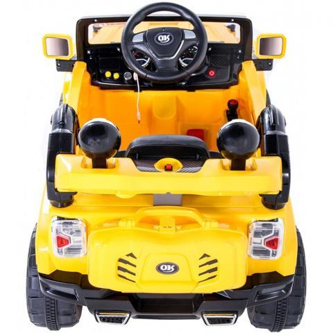 Imagem de Carro Jipe Eletrico Infantil 12v Cor Amarelo  Bel