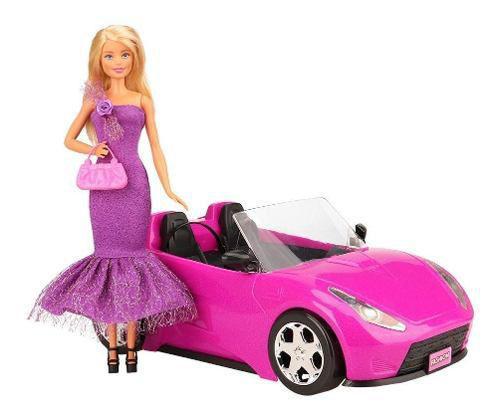 Imagem de Carro para a Barbie Conversível Rosa Alta Qualidade Top