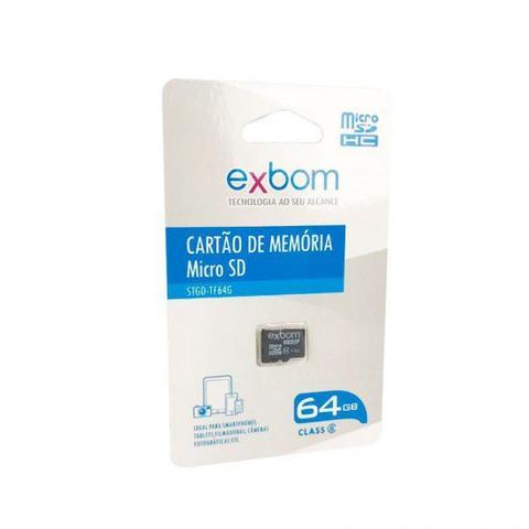 Imagem de Cartão de memória 64GB MicroSD (TF ) Gravações 8MBs Leitura 16MBs Class 6 STGD-TF064G