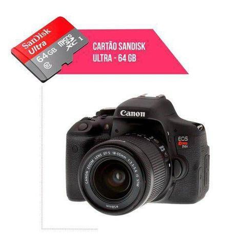 Imagem de Cartão De Memória 64gb Ultra Para Câmera Canon T6i