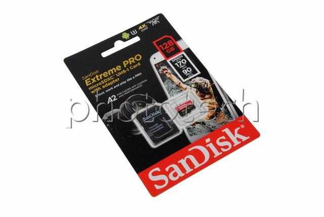 Imagem de CARTÃO MICRO SD SANDISK EXTREME PRO 128GB CLASS 10 170 MB/s MICROSDXC UHS-I 4k UHD ORIGINAL