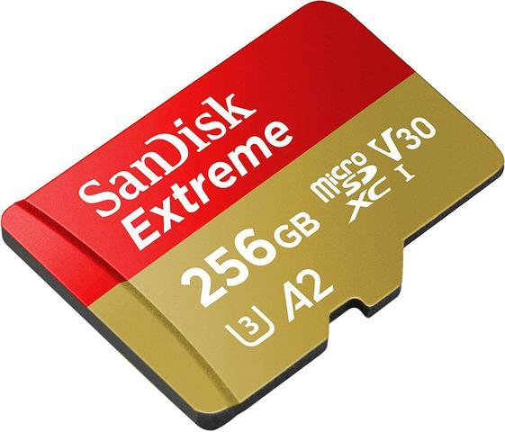 Imagem de Cartão MicroSDXC Sandisk 256GB Classe 10 Extreme A2 160-90MB/s