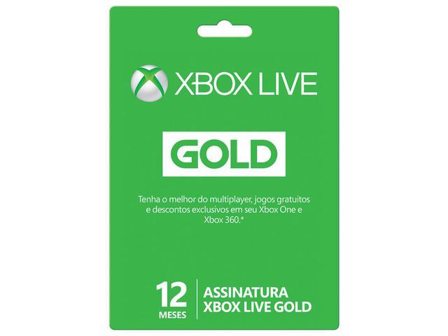 Imagem de Cartão Microsoft Xbox Live Gold 12 meses