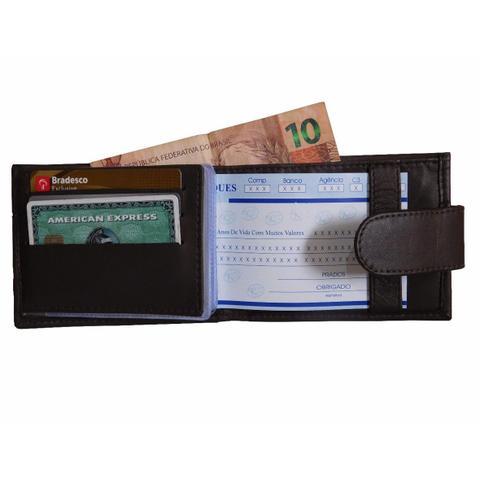 Imagem de Carteira 03 Passador - Masculina de Bolso em Couro (448TN03)