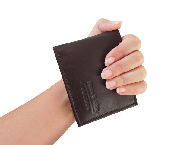 Imagem de Carteira 13-S Pequena - Masculina de Bolso em Couro (641TN13) Porta Cartão, Documento, CNH, Dinheiro, Divisória de Notas, Sem Plásticos