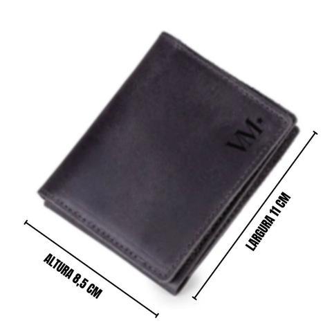 Imagem de Carteira De Couro Masculina Slim Pequena Porta Cartão