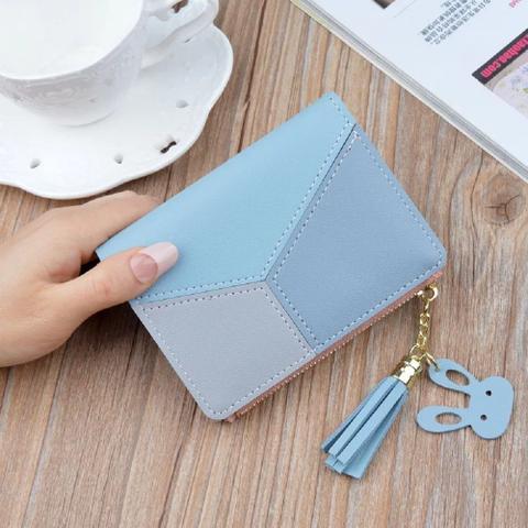 Imagem de Carteira Feminina Porta Cartão Mão Pequena Luxo