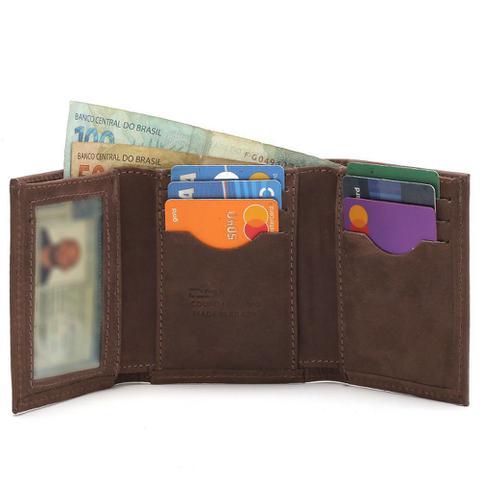 Imagem de Carteira Masculina Pequena Com Porta Cartões e Porta Cnh