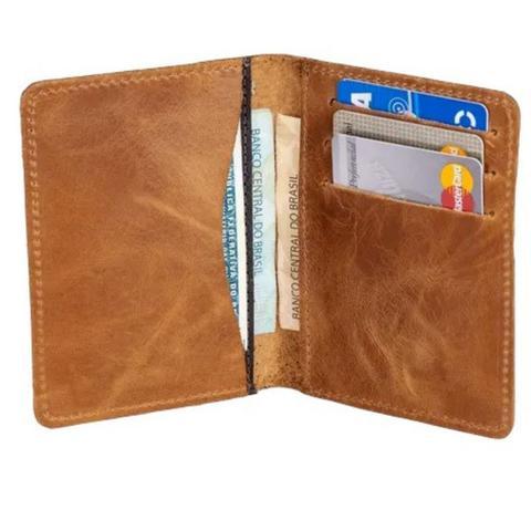 Imagem de Carteira Masculina Pequena Slim Porta Cartão CNH RG