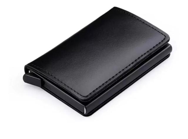 Imagem de Carteira Minimalista Antifurto Automática Pop Up Com Porta Cédulas e Cartões Anti RFID Blocking