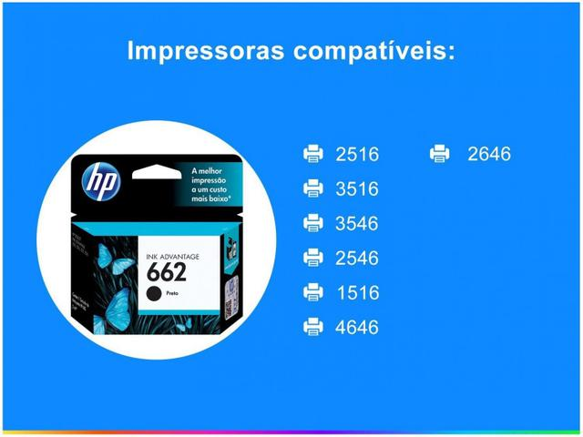 Imagem de Cartucho de Tinta HP 662 Preto
