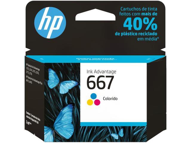 Imagem de Cartucho de Tinta HP 667 Colorido