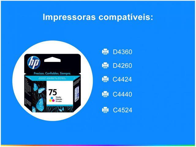 Imagem de Cartucho de Tinta HP 75 Colorido
