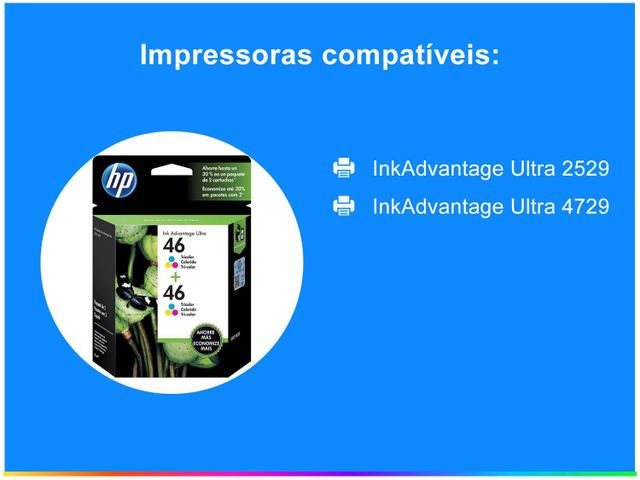Imagem de Cartucho de Tinta HP Colorido 46 Original P/