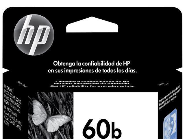 Imagem de Cartucho de Tinta HP Preto 60 B Original P/ HP