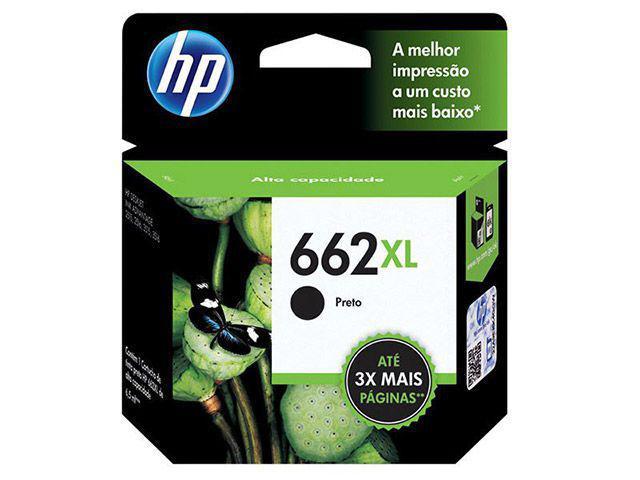 Imagem de Cartucho de Tinta HP Preto 662XL