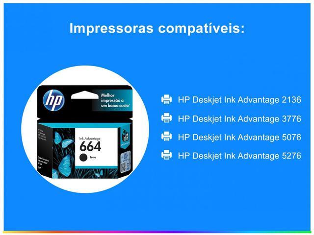Imagem de Cartucho de Tinta HP Preto 664 Original P/