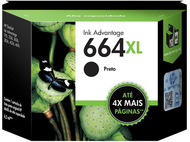 Imagem de Cartucho de Tinta HP Preto 664 XL Original