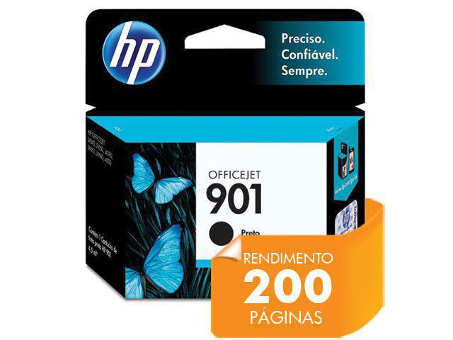 Imagem de Cartucho HP 901 Officejet Jato de Tinta Preto 4,5ML - CC653AB