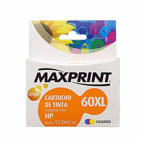 Imagem de Cartucho hp cc641wl 12,5ml color(60xl) / un / maxprint