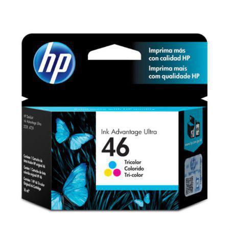 Imagem de Cartucho HP Original (46) CZ638AL - cores rendimento 750 páginas