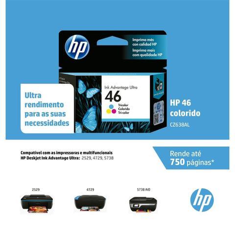 Imagem de Cartucho Original HP  46 CZ638AL Color Ultra Ink