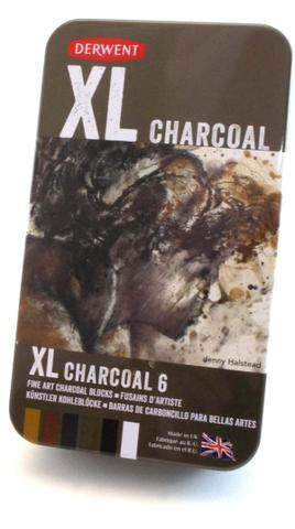 Imagem de Carvão XL Charcoal Estojo com 6 Cores Ref.2302009 Derwent