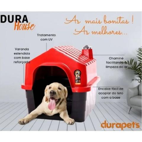 Imagem de Casa Casinha Cachorro Cães Gatos Durapet Durahouse N5 Grande
