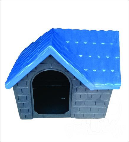Imagem de Casa Plástica Para Cães Bangalo Azul N1 Casinha Cachorro