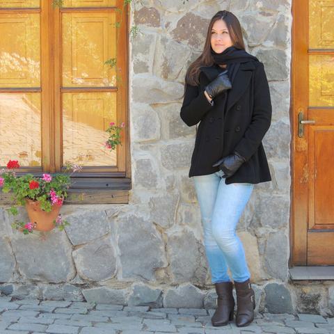 Imagem de Casaco Feminino Trench Coat Viena em Lã Batida - Preto