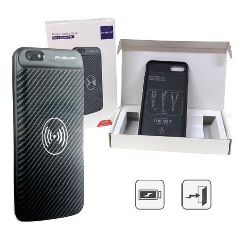 Imagem de Case Capa Carregadora Sem Fio 22701p It-Blue Iphone 7 Plus 8 Plus Bateria