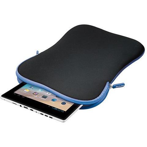 Imagem de Case Multilaser Neoprene Para Tablet 10 - Preto/azul - Bo179