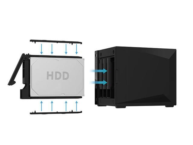 Imagem de Case Para HD Asustor NAS Com 4 baias USB 3.0 hot-Swap Assustor  AS4004T