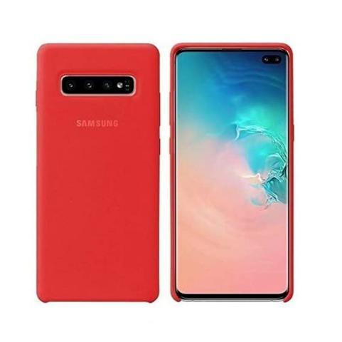 Imagem de Case Silicone Aveludada Samsung Galaxy S10 Plus Vermelha