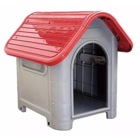 Imagem de Casinha de Cachorro Grande Mec Pet Vermelha