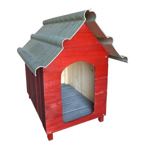 Imagem de Casinha Para Cachorro - Telhado Ecológico - Grande - Mogno