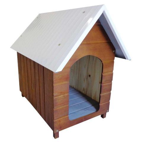 Imagem de Casinha Para Cachorro - Telhado Galvanizado - Grande - Cerejeira