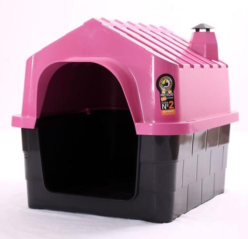 Imagem de Casinha plastica para cachorro Durahouse Rosa