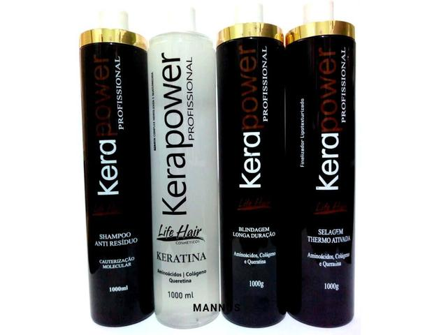 Imagem de Cauterização Life Hair capilar Profissional Kera Powe Kit 4L