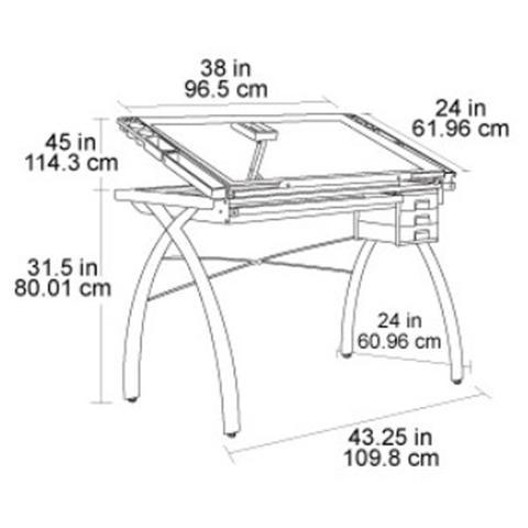 Imagem de Cavalete para Desenho com Tampo de Vidro 61 x 96 cm Futura Craft Station