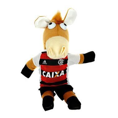 Imagem de Cavalinho De Pelúcia Do Fantástico Do Time De Futebol Flamengo Alvinegro Do Brasileirão
