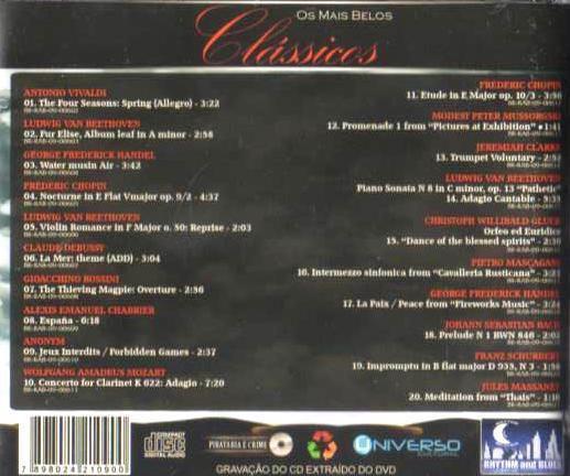 Imagem de CD Os Mais Belos Clássicos