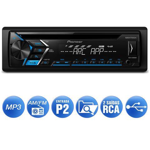 Imagem de CD Player Automotivo Pioneer DEH-S1080UB 1 Din USB AUX RCA AM FM MP3 Smartphone Aplicativo Mixtrax