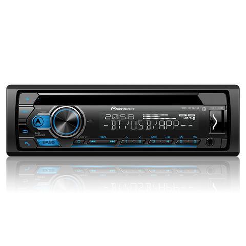 Imagem de CD Player Automotivo Pioneer DEH-S4180BT 1Din Leitor de CD Bluetooth USB AUX RCA AM FM MP3 WMA Função Karaoke