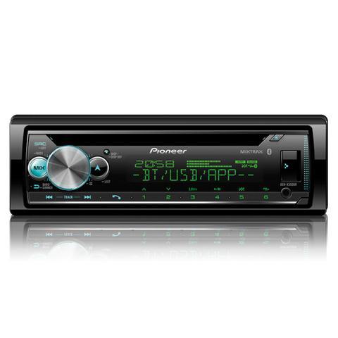 Imagem de CD Player Automotivo Pioneer DEH-X500BR 1Din Leitor de CD Bluetooth MP3 USB AUX RCA FM WMA Interface Android Iphone Karaoke