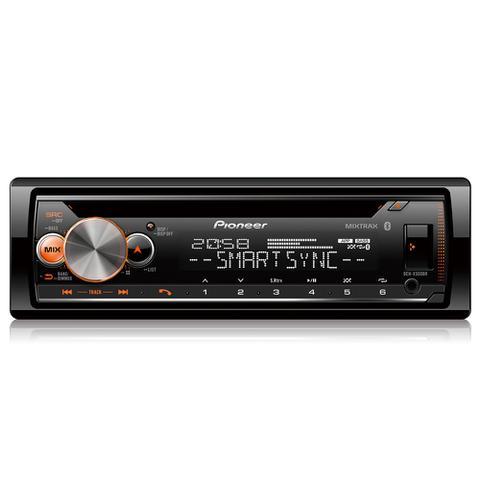 Imagem de CD Player Automotivo Pioneer USB Rádio FM Bluetooth Mixtrax 1 Din 23W RMS Dynamic Bass - DEH-X500BR