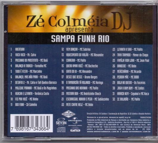Imagem de Cd zé colméia apresenta sampa funk rio