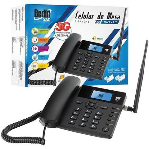 Imagem de Celular de mesa 5 bandas gsm com 3g rádio fm e viva voz
